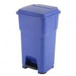 Контейнер для мусора Vileda Pro Гера 60л, с педалью и крышкой, синий