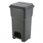 Контейнер для мусора Vileda Pro Гера 60л, с педалью и крышкой, черный, 137755