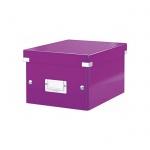 Архивный короб Leitz Click & Store-Wow, A5, 220x160x282 мм, фиолетовый