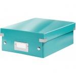 Архивный короб Leitz Click & Store-Wow, A4, 280x100x370 мм, бирюзовый