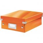 Архивный короб Leitz Click & Store-Wow, A4, 280x100x370 мм, оранжевый