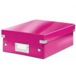 Архивный короб Leitz Click & Store-Wow, A4, 280x100x370 мм, розовый