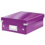 Архивный короб Leitz Click & Store-Wow, A4, 280x100x370 мм, фиолетовый