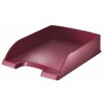 Лоток горизонтальный для бумаг Leitz Style А4, красный гранат