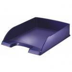 Лоток горизонтальный для бумаг Leitz Style А4, синий титан