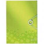 Пластиковая папка на резинке Leitz Wow, A4, до 150 листов, зеленая
