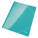 Пластиковая папка на резинке Leitz Wow бирюзовая, А4, до 250 листов, 39820051