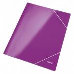 Пластиковая папка на резинке Leitz Wow, А4, до 250 листов, фиолетовая