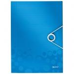 Пластиковая папка на резинке Leitz Wow, A4, до 150 листов, синяя
