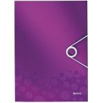 Пластиковая папка на резинке Leitz Wow, A4, до 150 листов, фиолетовая