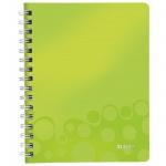 Тетрадь общая Leitz Wow зеленая, А4, 80 листов, в клетку, на спирали, пластик, 46380064