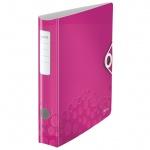 Папка-регистратор А4 Leitz 180° Active Wow розовая, 80 мм, 11060023