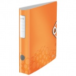 Папка-регистратор А4 Leitz 180° Active Wow оранжевая, 80 мм, 11060044