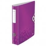 Папка-регистратор А4 Leitz 180° Active Wow фиолетовая, 80 мм, 11060062