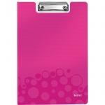 Клипборды с крышкой Leitz Wow розовая, А4, 41990023