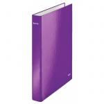 Папка на 2-х кольцах А4 Leitz Wow фиолетовая, 40 мм, 42410062