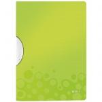 Пластиковая папка с клипом Leitz Wow зеленая, А4, до 30 листов, 41850064