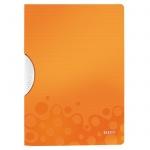 Пластиковая папка с клипом Leitz Wow оранжевая, А4, до 30 листов, 41850044