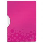Пластиковая папка с клипом Leitz Wow, А4, до 30 листов, розовая