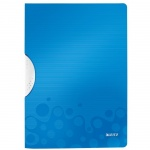 Пластиковая папка с клипом Leitz Wow синяя, А4, до 30 листов, 41850036