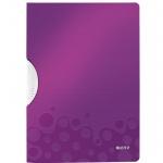 Пластиковая папка с клипом Leitz Wow, А4, до 30 листов, фиолетовая