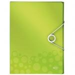 Пластиковая папка на резинке Leitz Wow зеленая, A4, до 250 листов, 46290064
