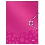 Пластиковая папка на резинке Leitz Wow розовая, A4, до 250 листов, 46290023