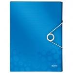Пластиковая папка на резинке Leitz Wow синяя, A4, до 250 листов, 46290036
