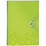 Папка-органайзер Leitz Wow, А4, 6 разделов, зеленая