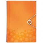 Папка-органайзер Leitz Wow, А4, 6 разделов, оранжевая