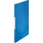 Папка файловая Leitz Wow, А4, на 40 файлов, синяя