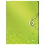Папка-органайзер Leitz Wow, А4, 4 раздела, зеленая