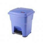 Контейнер для мусора Vileda Pro Гера 35л, с педалью и крышкой, синий, 137747