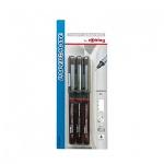 Набор ручек для черчения Rotring Tikky Graphic черные, 0.2/0.4/0.8мм, 3 предмета, мягкий пенал