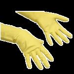 Перчатки резиновые Vileda Pro многоцелевые S, желтые, 100758
