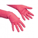Перчатки резиновые Vileda Pro многоцелевые S, красные, 100749