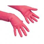 Перчатки резиновые Vileda Pro многоцелевые XL, красные, 102589