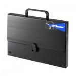 Портфель пластиковый Leniar черный, без отделений, А3