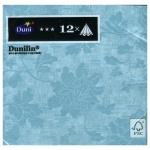 Салфетки Duni Venezia, 40х40см, 4 слоя, 12шт, голубой