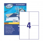 Этикетки самоклеящиеся Avery Zweckform Европа-100 ELA024, белые, 105x148.5мм, 4шт на листе А4, 100 листов, 400шт, для всех видов печати