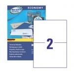 Этикетки самоклеящиеся Avery Zweckform Европа-100 ELA026, белые, 210х148.5мм, 2шт на листе А4, 100 листов, 200шт, для всех видов печати