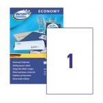 Этикетки самоклеящиеся Avery Zweckform Европа-100 ELA027, белые, 210х297мм, 1шт на листе А4, 100 листов, 100шт, для всех видов печати
