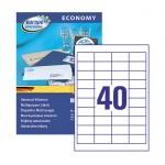 Этикетки самоклеящиеся Avery Zweckform Европа-100 ELA049, белые, 52.5x29.7мм, 40шт на листе А4, 100 листов, 4000шт, для всех видов печати