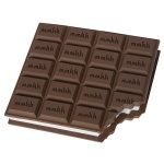 Блок для записей с клейким краем Brunnen Шоколад, белый, 100x90мм, 50 листов