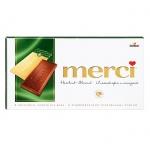 Шоколад Merci лесной орех и миндаль, молочный, 100г