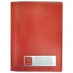 Папка пластиковая с зажимом Бюрократ Crystal, А4, красная