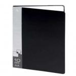 Папка файловая Бюрократ черная, A4, на 10 файлов, BPV10BLACK