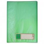 Папка файловая Бюрократ Crystal, на 10 файлов, зеленая