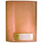 Папка файловая Бюрократ Crystal, на 10 файлов, оранжевая