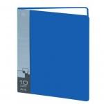 Папка файловая Бюрократ синяя, А4, на 10 файлов, BPV10BLUE